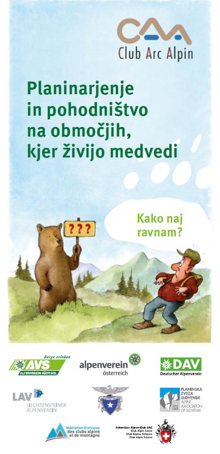 Planinarjenje in pohodništvo na območjih, kjer živijo medvedi