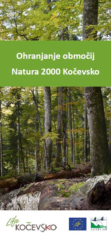Zloženka Ohranjanje območij Natura 2000 Kočevsko