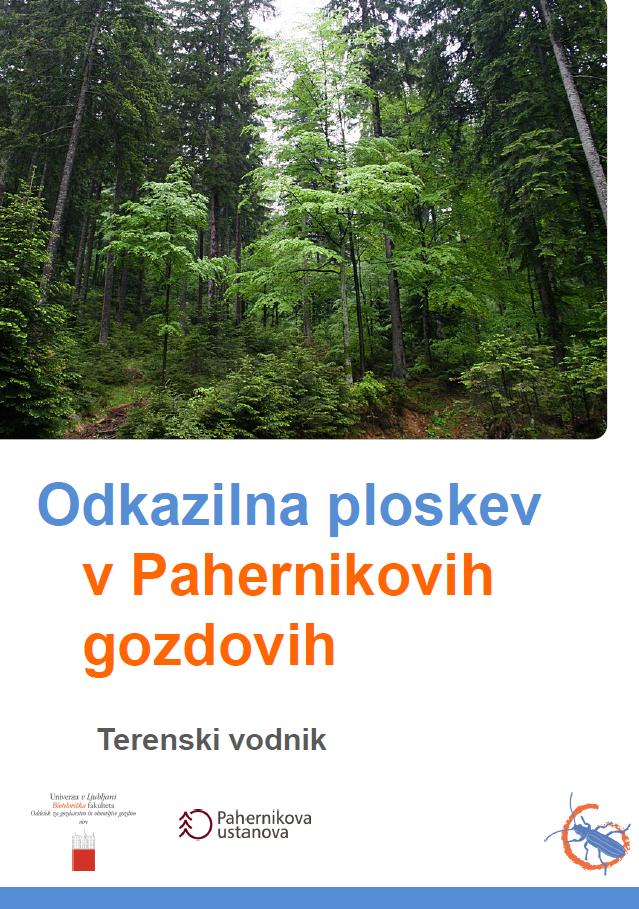 Odkazilna ploskev v Pahernikovih gozdovih - terenski vodnik