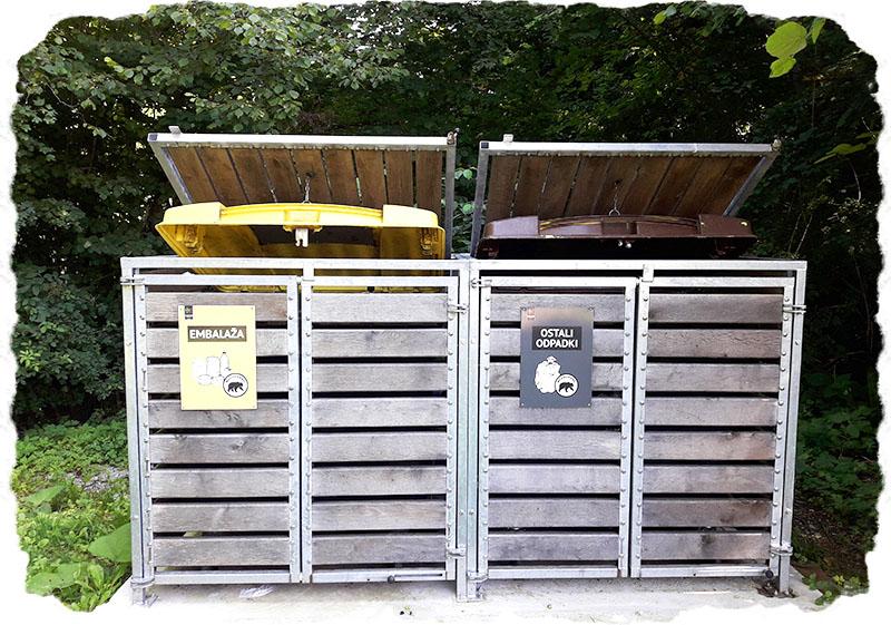 Ravnanje z odpadki na območju medveda